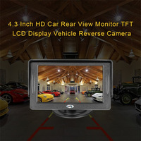 HD 4 3 Inch Car Rear View Monitor TFT LCD Color Display Screen Vehicle Security System