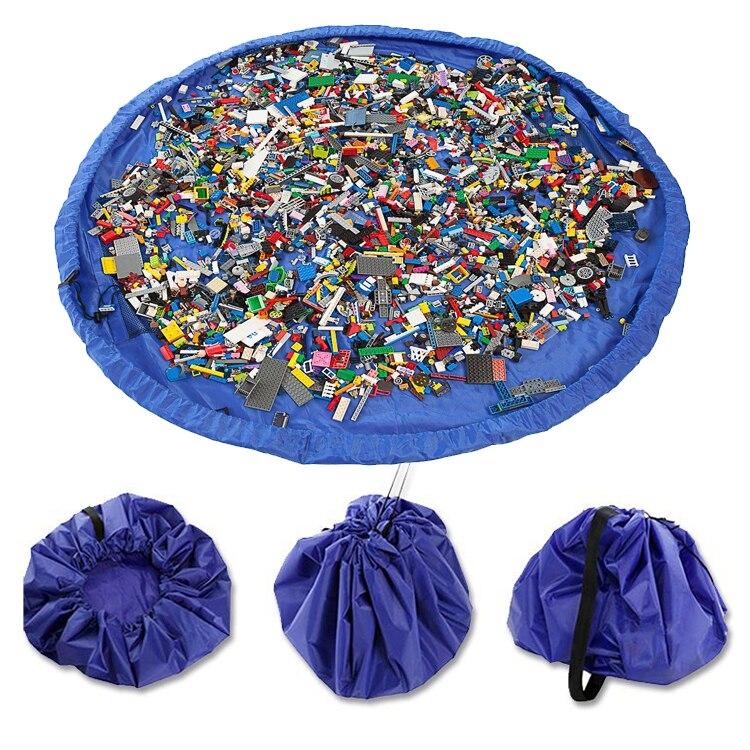 Parachute Kids Toys Organizer Storage Bag Play Mat High Capacity Durable 20kg Bearing Portable Lego Bricks Hanging Folding Baskt   Happy Baby Mama