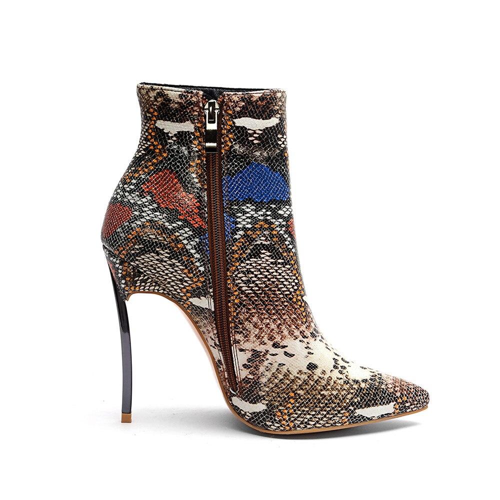 35a03051b944bc Bottes Pointu Femmes Green Zipper Haute brown Serpent Cm Plus Taille En  Hsj003 Chaussures Talons Cheville ...