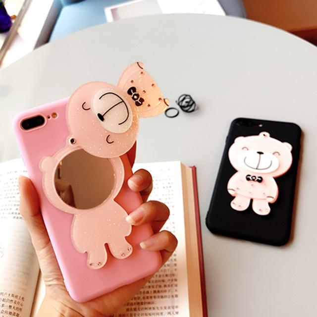 Cute Lovely Bear Glitter Case