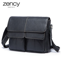 2017 New Fashion Cowhide Man Messenger Bags Genuine Leather Male Casual Men Commercial Briefcase Solid Business