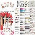 2015 HOTSALE 20 Hoja/LOT Cráneo pegatina de uñas accesorios de Uñas nail Sticker decal NAIL TOOL + Separado Embalado