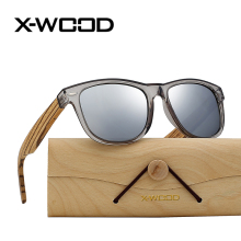 X-WOOD New Fashion Silver Square Wooden Frame Polarized Reflect Light Sunglasses Men Women Colorful Classical Travel Sunglass