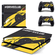 drive club decal PS4 Skin Sticker For Sony Playstation 4 Console +2Pcs Controllers 6 patterns