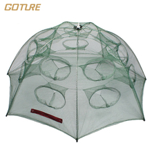 12/16 Holes Automatic Folding Fishing Net Shrimp Cage Nylon Foldable Crab Fish Trap Cast Net Cast Folding Fishing Network
