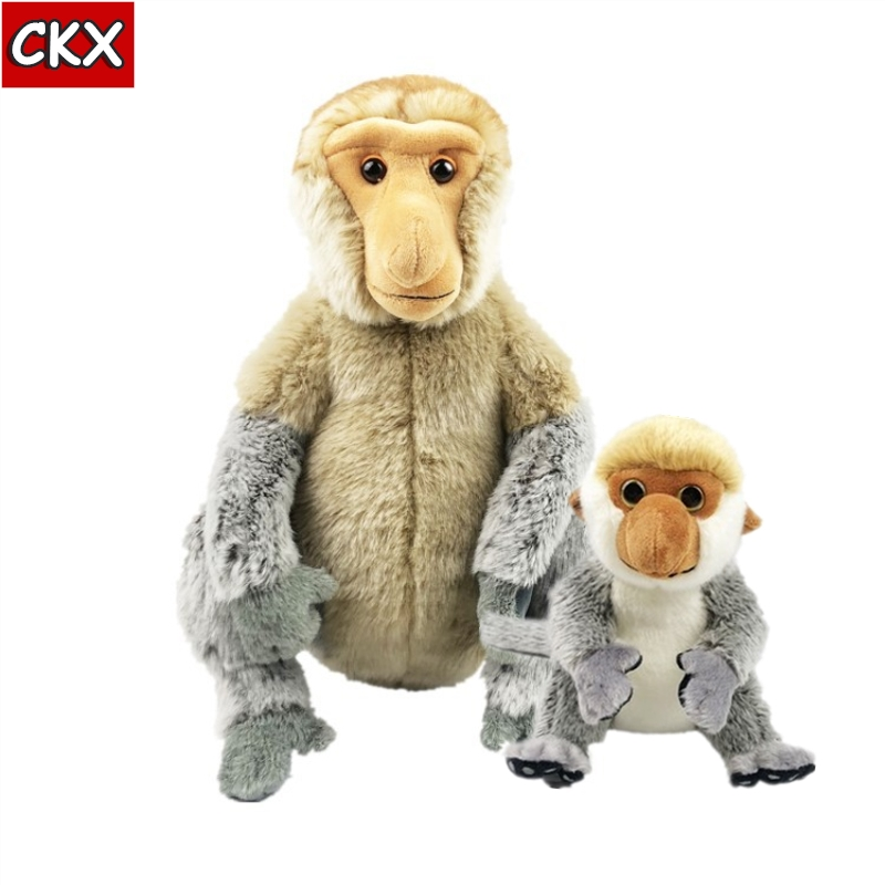 Nosacz Nasalis Larvatus Monkey Toy Proboscis Monkey Stuffed Animals Plush Toy Malaysia Tourism Year Plush Doll Proboscis Monkey