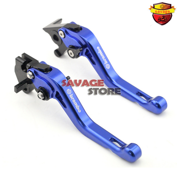 ФОТО Motorcycle CNC Billet Aluminum Short Brake Clutch Levers Blue For YAMAHA YZF R125 YZF-R125 2014-2015