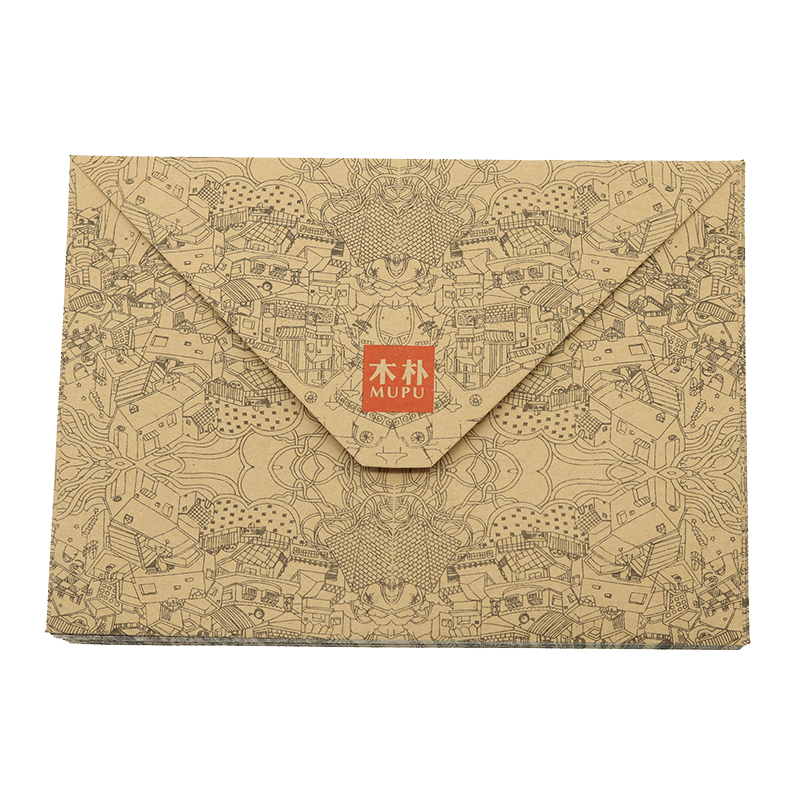 Retro Kraft Paper Envelope Postcard Greeting Card Cover Brown Kraft Paper Envelope Stationery Zakka School Supplies 10pcs