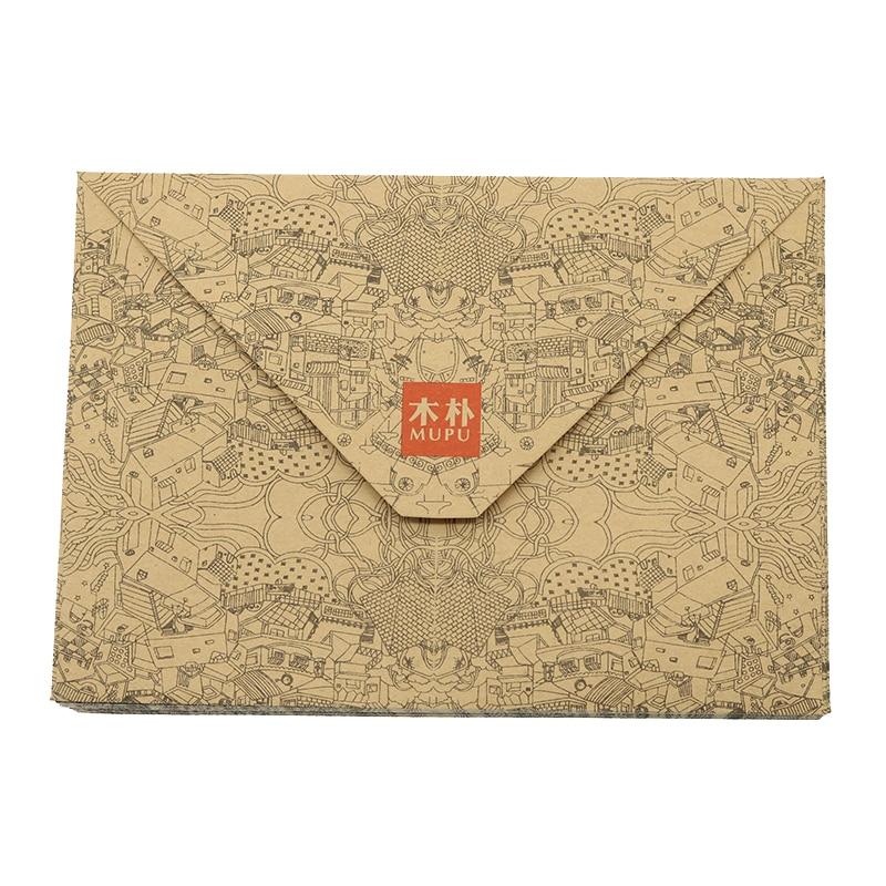 Retro Kraft Paper Envelope Postcard Greeting Card Cover Brown Kraft Paper Envelope Stationery Zakka School Supplies 10pcs