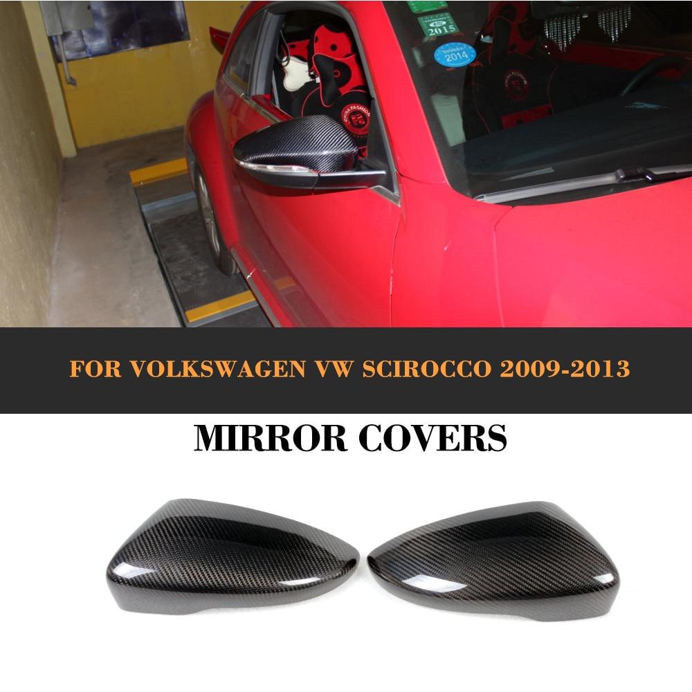 Carbon Fiber car Rearview mirror covers <font><b>caps</b></font> trim for VW Scirocco 2009 2010 2011 2012 2013 2014 NOT FOR <font><b>R</b></font>