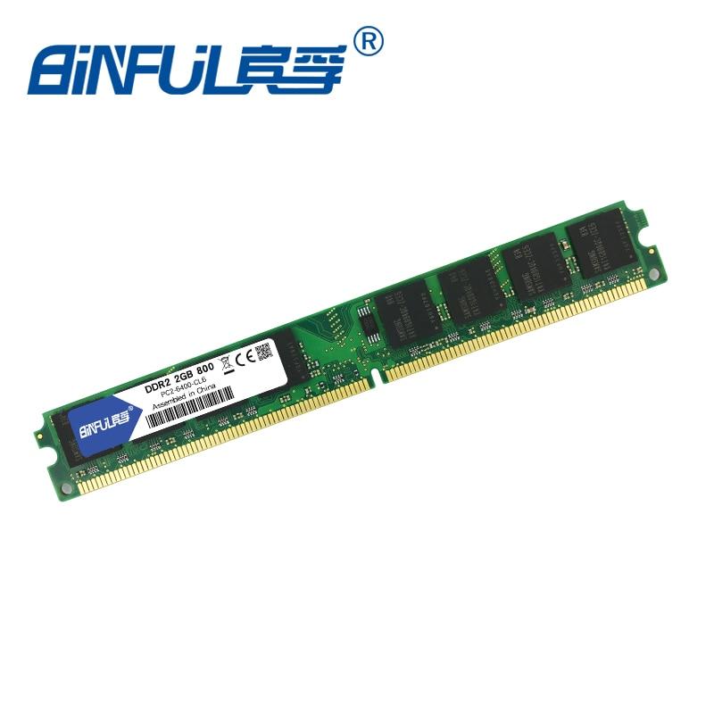 Binful DDR2 2GB 800MHz PC2-6400 4GB (2Gx2) Memory Ram Memoria - Arvuti komponendid - Foto 5