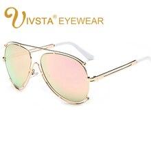 IVSTA Pilot Sunglasses Women Hollow Alloy Resin Mirror Lenses Glasses Men