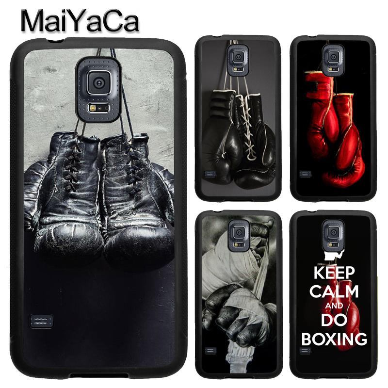 MaiYaCa Boxing Gloves TPU Phone Case For Samsung Galaxy S4 S5 S6 S7 edge S8 S9 Plus Note 8 Note 5 Note 4 Full Back Cover