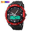 2016 New Solar Power Watch SKMEI Brand Men Sports Watches 2 Time Zone Digital Quartz Multifunctional Outdoor Dress Wristwatches