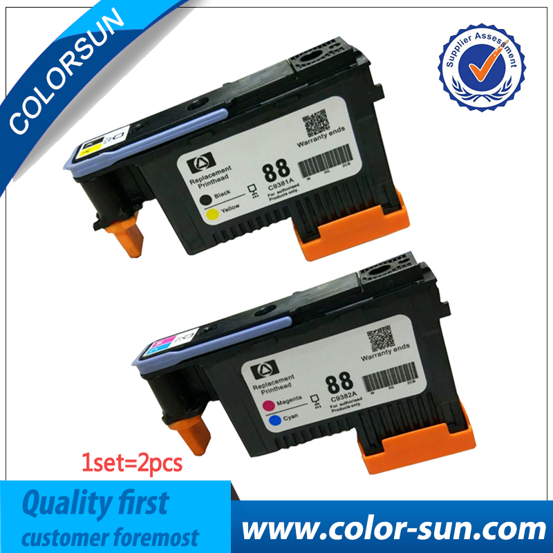 For Hp 88 HP88 printhead C9381A C9382A Printhead for HP88 K550 K5400 K8600 L7000 L7480 L7550 L7580 L7590 L7650 L7680 L7710 L7750 1set x new excellently print head for hp88 c9381a c9382a free shipping for hp 88 printhead k550 5300 5400