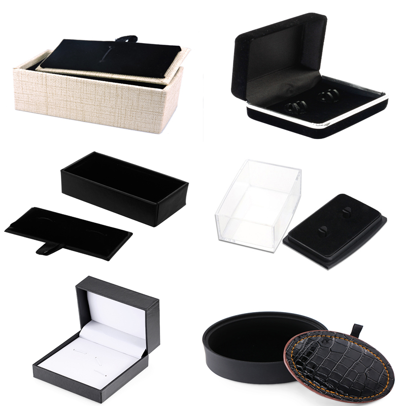 WN The New Tie Clip, Cufflinks Box Fashion Men's Jewelry Gift Box Wholesale And Retail