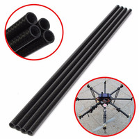New Arrival 3K 8mm X 10mm X 500mm Roll Wrapped Carbon Fiber Tube Boom For Multicopter
