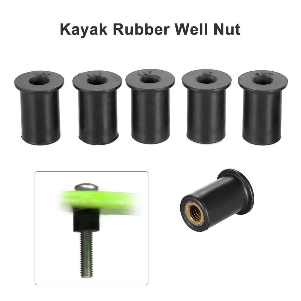 6pcs M4 / M5 / M6 Kayak Rubber Well Nuts Fastener Wellnuts Kayak Accessories Well Nut Brass Rubber