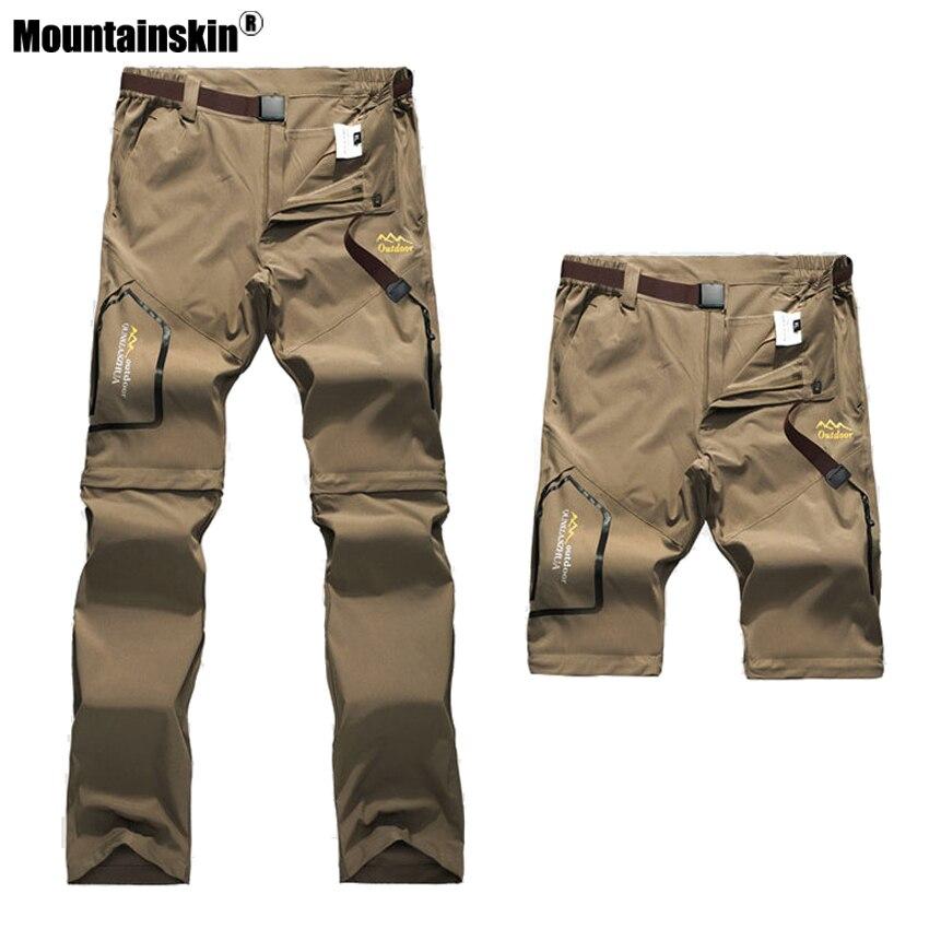 Mountainskin 6XL hommes D'été À Séchage Rapide Pantalon En Plein Air Mâle Amovible Shorts Randonnée Camping Trekking De Pêche Sport Pantalon VA162