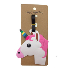 Portable Travel Accessories Cartoon Unicorns Luggage Tag Women Silica Gel Suitcase ID Address Holder Baggage Boarding Tag Label