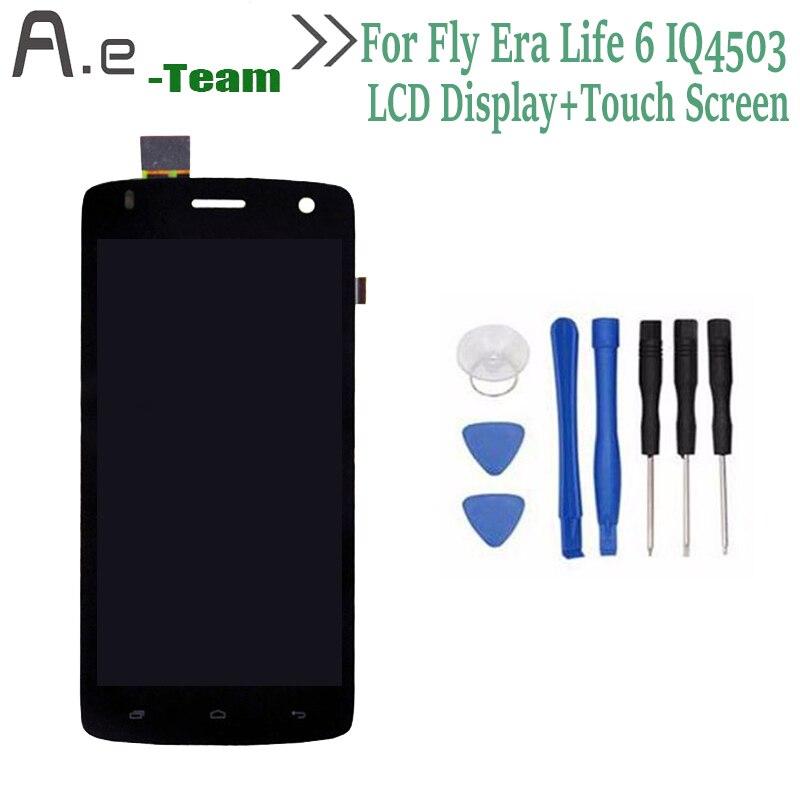 De alta calidad para fly iq4503 era life 6 pantalla lcd + touch reemplazo del di