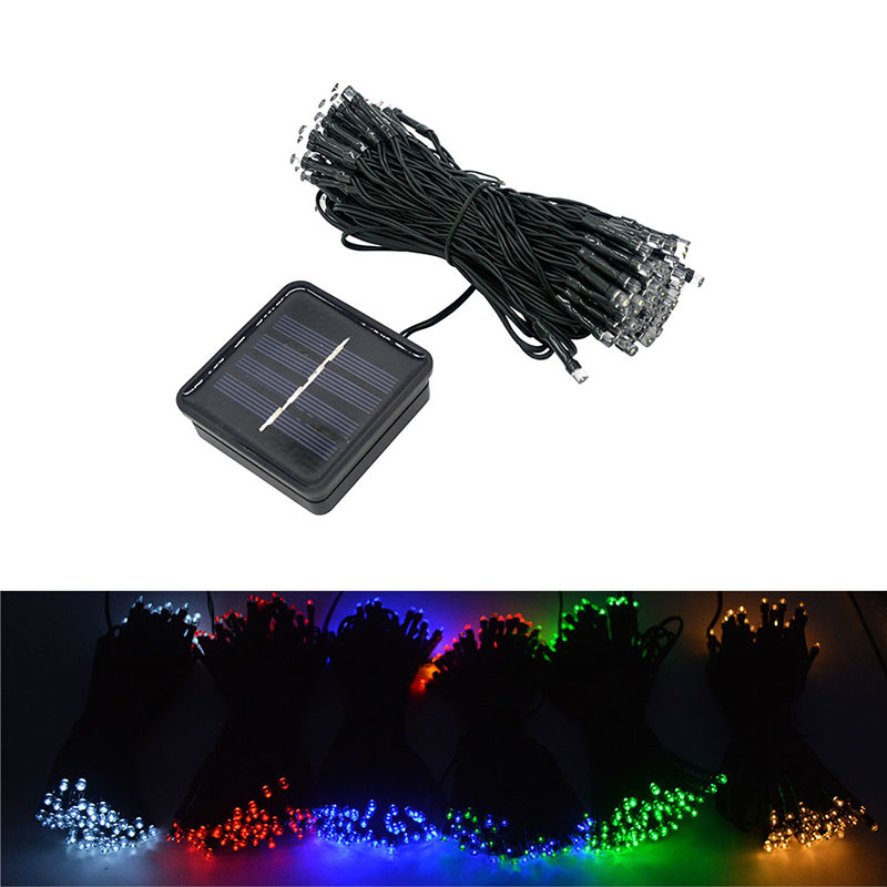 aimihuo 100led solar lantern series christmas lights outdoor decorative neon colored lights christmas wedding lantern string