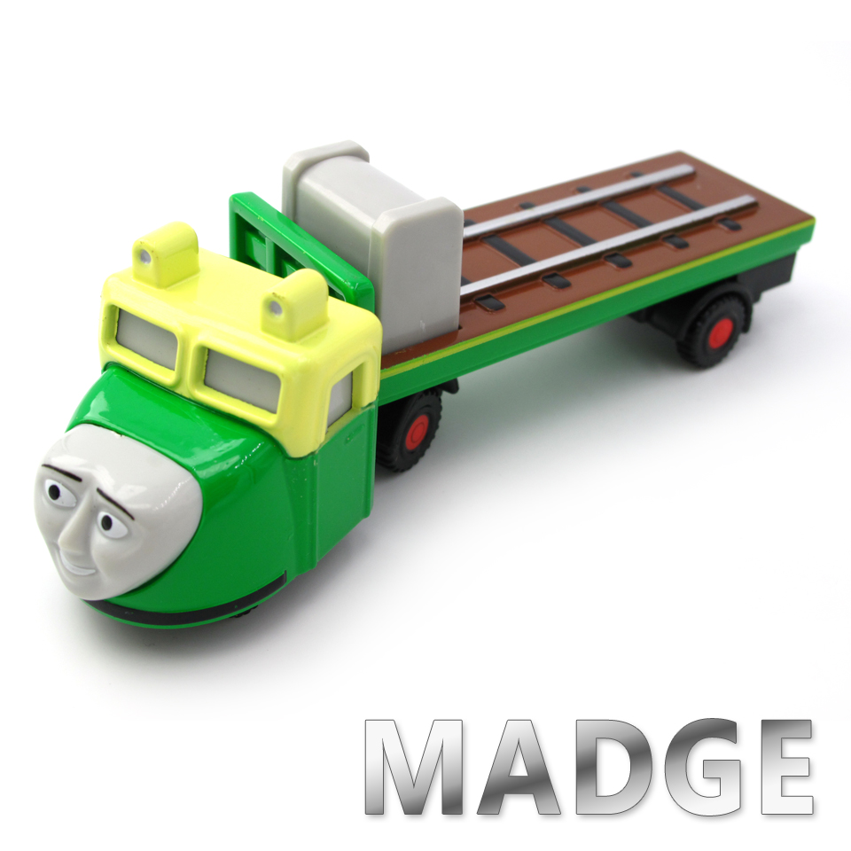 Diecasts Vehicles Thomas T085D MADGE Thomas And Friends Magnetic Tomas Truck Car Locomotive Engine Railway Train Toys for Boys
