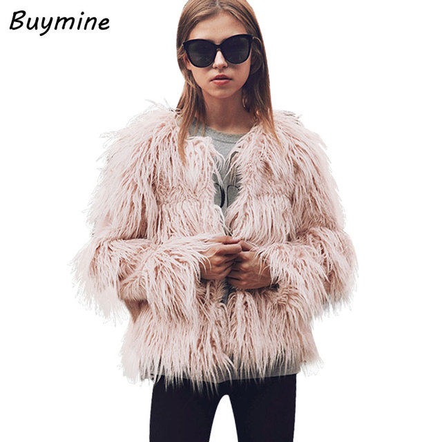 a35d2dc3b45 XXXL Plus Size Women Faux Fur Coat Thick Warm Fluffy Winter Overcoat Women  Fashion Shaggy Artificial Fur Coat Outwear Slim Coat