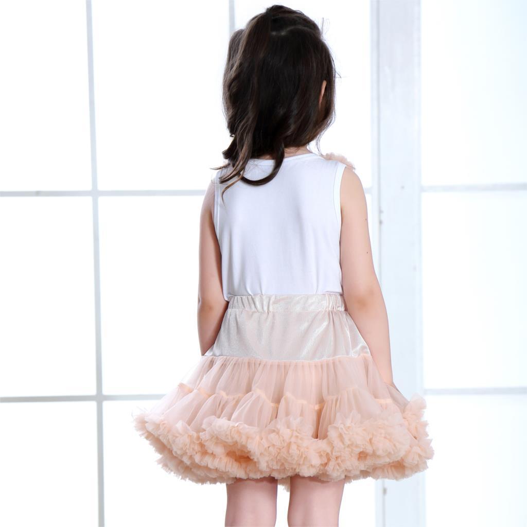 Brand 2pcs Baby Kids Girls Dancewear Chiffon Tutu Pettiskirt Princess Skirt V49