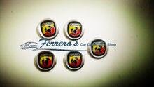 Pegatinas de alta calidad para llave de coche, para FIAT Abarth 500, 600, 1000, 1600, 2000, 695, estilismo de coche, 14mm, 5 unids/lote