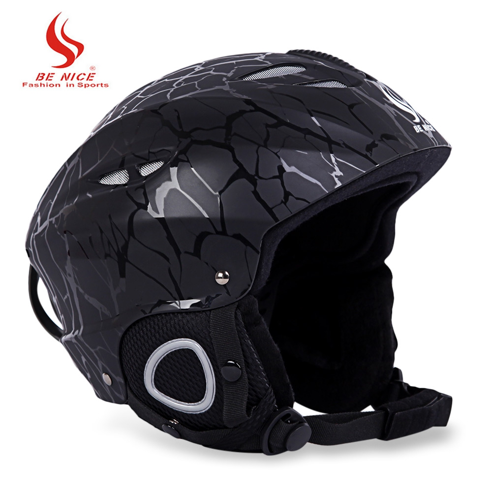 BENICE Sports Safety Skiing Helmet with Inner Adjustable Buckle Liner Cushion Layer 58-61cm Head Circumferencess Skiing Helmet black kayak boating water sports helmet abs out shell prefessional water skiing helmet