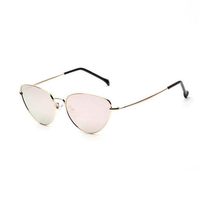 19e587cd5853e Lucky Lion Cat Eye Sunglasses Women Tinted Color Lens Vintage Shaped Sun  Glasses Women Eyewear 70s Luxe Red Female Sunglasses