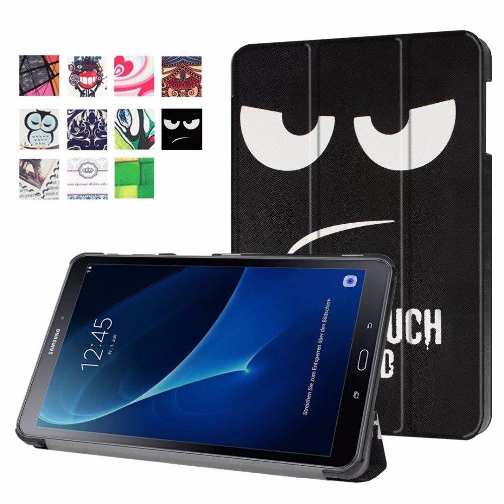 Inteligente magnético de la pu caso para Samsung Galaxy Tab A6 10,1 2016 SM-T580 SM-T585 funda para Samsung Galaxy Tab A 10,1 pulgadas caso