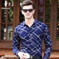 Troilus 2017 Мода Весна Мужчины Рубашка С Длинным Рукавом Новый марка Мужская Рубашка Slim Fit Мужчины Рубашки Жаккарда Социальной рубашка