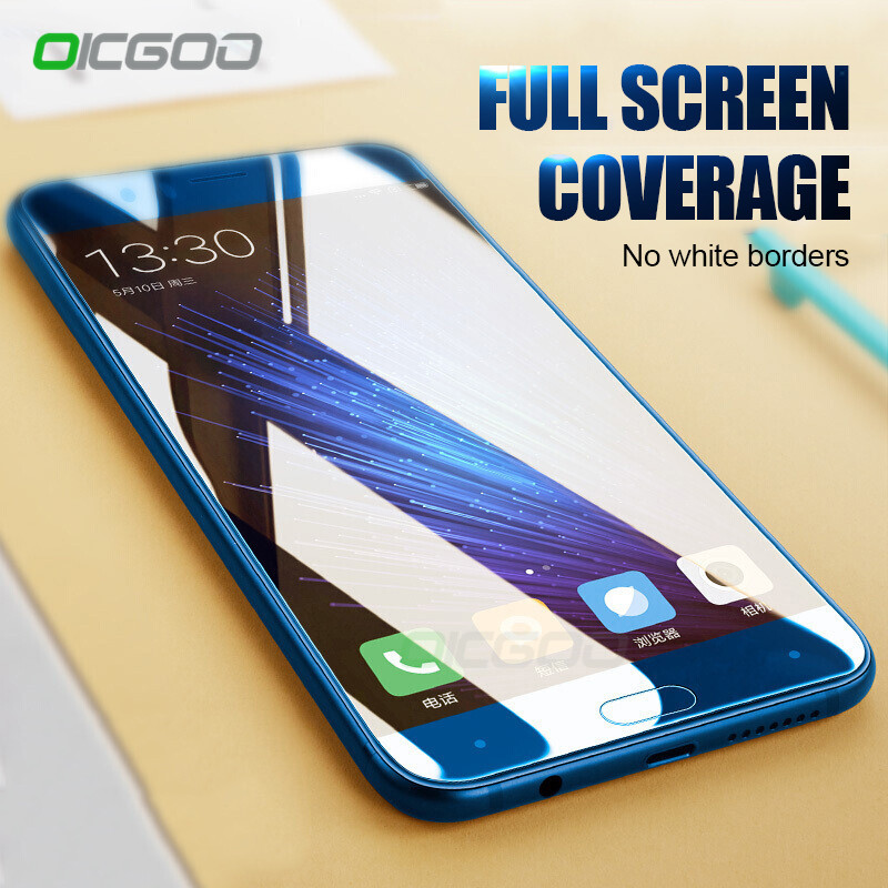 OICGOO 3D Tempered Glass For Huawei Honor 10 V10 Honor 9 8 Lite Full Cover Screen Protective For Huawei P10 Lite P10 Plus Glass