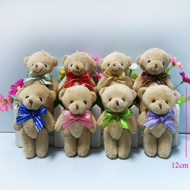 Brown Bear Toy Christmas Teddy Mini Kawaii Joint 12pcs/Lot 12CM Bouquet-Material/wedding-Gift
