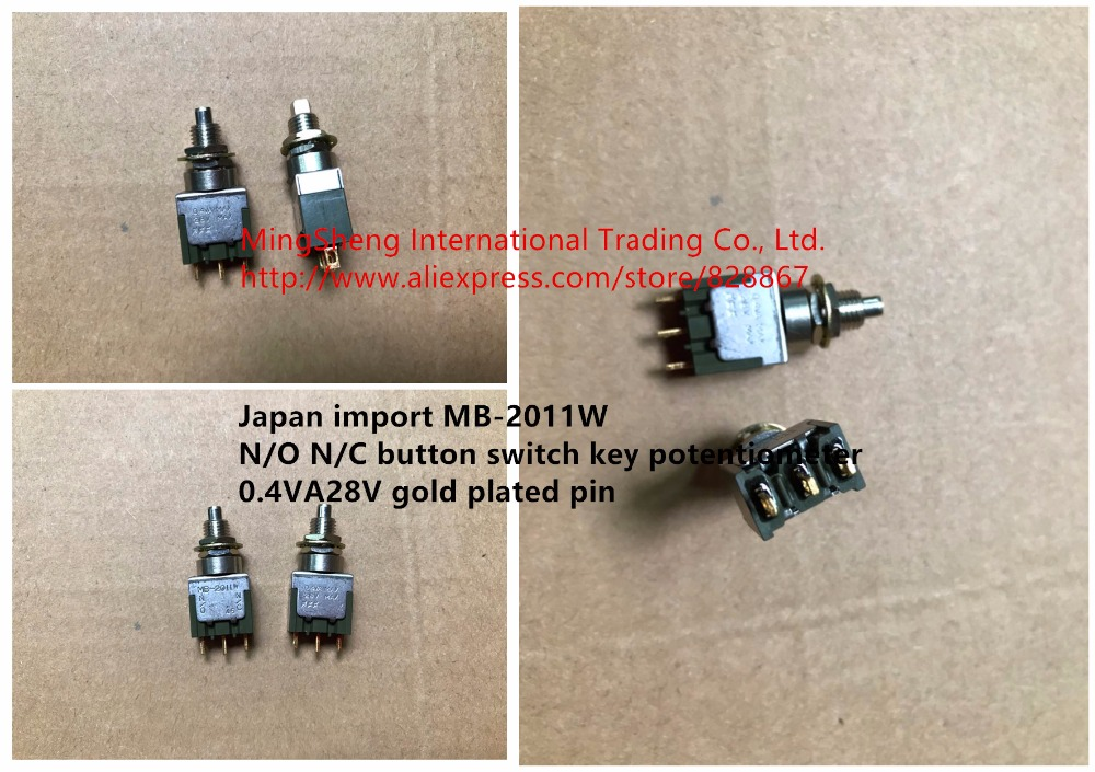 Original new 100% Japan import MB-2011W N/O N/C button switch key potentiometer 0.4VA28V gold plated pin
