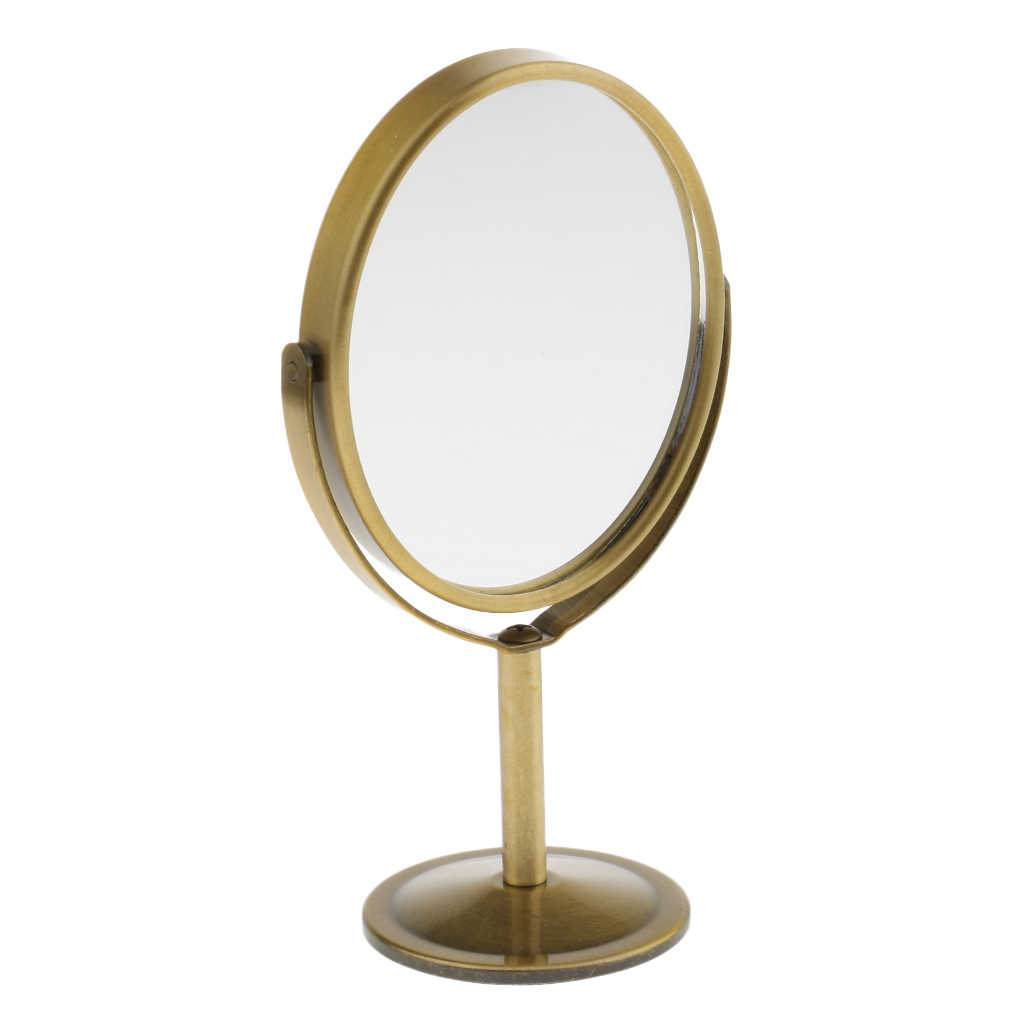 3 Inch Mini Tabletop Vanity Makeup Mirror, Two-sided Magnifying & Normal Swivel Cosmetic Mirror, Portable Travel