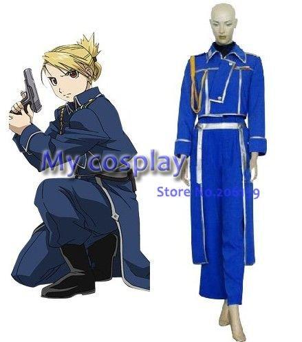 Anime Fullmetal Alchemist Cosplay - Fullmetal Alchemist Cosplay Riza Hawkeye Cosplay Jacket Halloween Costume Free shipping
