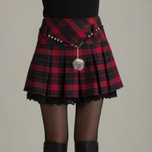 Новинка; модная плиссированная мини-юбка Falda для школьниц с высокой талией; юбка в клетку; faldas mujer moda; цвет красный, черный;