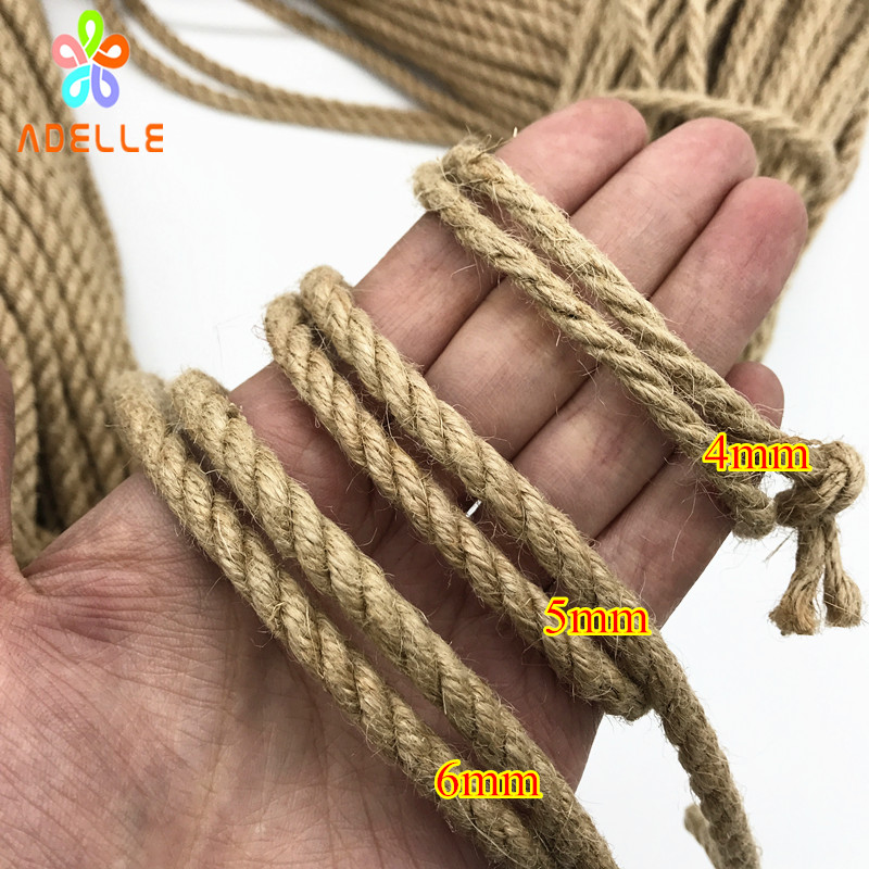 Image 5 - 2 colors twisted shibari bondage jute twine rope 4/5/6mm adult sex toys rope strong DIY gardening free shipping 25m-in Cords from Home & Garden