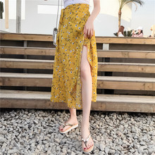In one chip skirts female summer long chiffon beach