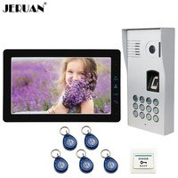 JERUAN 9 Inch LCD Video Door Phone Doorbell Intercom System kit Fingerprint Code Keypad Waterproof RFID Access Camera In Stock