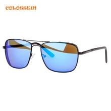 COLOSSEIN Rectangular font b Sunglasses b font font b Polarized b font Unisex Clear Sun glasses