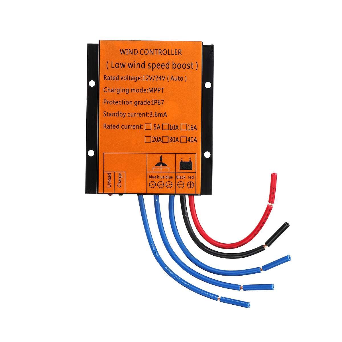 Слежением за максимальной точкой мощности, ветровые турбины генератора контроллер заряда 2000/3000/4000/5000 Вт 12/24V Авто со слежением за максимальной точкой мощности, Водонепроницаемый светодиодный Защита от перенапряжения