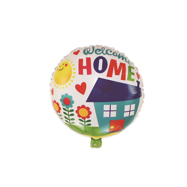 18 inch New 2018 Round Shape Welcome Home Foli Balloons Globos for Welcome Go Back Home Birthday Parties Balloons Decoration (