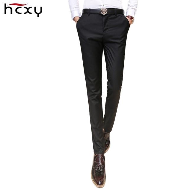 2017 New Wedding Men Suit Pants Fashion Slim Fit Casual suit pants men Formal Business Blazer Straight Dress Trousers