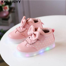 Girls Shoes Spring Autumn Lighted Stars Breathable Fashion Baby Girls Sneakers