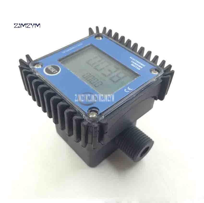 K24 débitmètre à Turbine numérique débitmètre électronique eau chimique 1 pouce à 4 Points 20BAR 103mm 2.3-3.3 V 10-120L/min offre spéciale