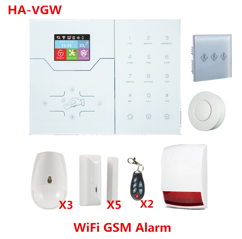 Most Advanced Wifi Alarm System GSM GPRS Smart Hom Alarm System Built In Temperature Sensor IP Camera Support